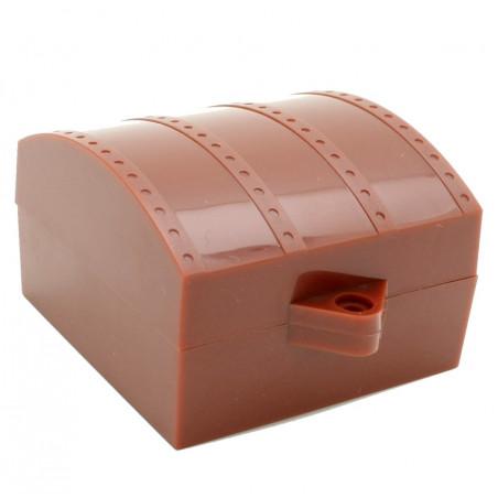 Mini coffre au trésor plastique 6 x 6 x 4 cm