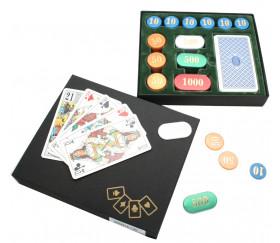 Coffret jeu Tarot 120 jetons nacrés + jeu de 78 cartes