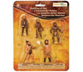 5 Figurines évolution de l'Homme