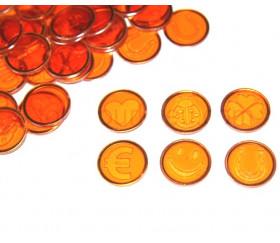 Pions magnétiques symbole pour loto lot de 100