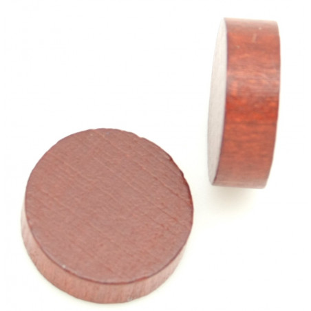 Jetons 19 x 6 mm bois mini disque à l'unité