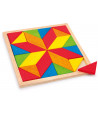 Mosaique étoile bois avec plateau 21 x 21 cm - 24 pièces.