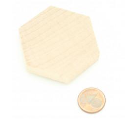 Hexagonal plat en bois de 4.5 cm de côté - 45 x 45 x 8 mm
