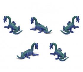 Figurine mini mini dragon des mers bleu-vert