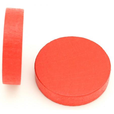 Palet bois de 5 cm rouge 52 x 13 mm à l'unité