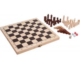 Coffret échec / Backgammon 29 x 29 cm