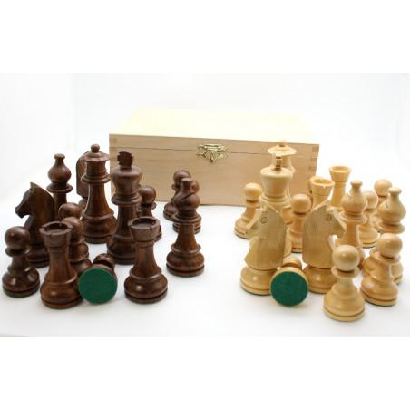 Pièces échecs bois plombées lestées coffret bois taille 6 luxe