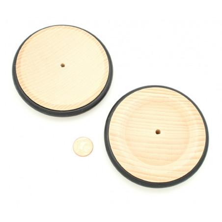 Roue en bois de 8.4 cm avec pneu caoutchouc pour construction