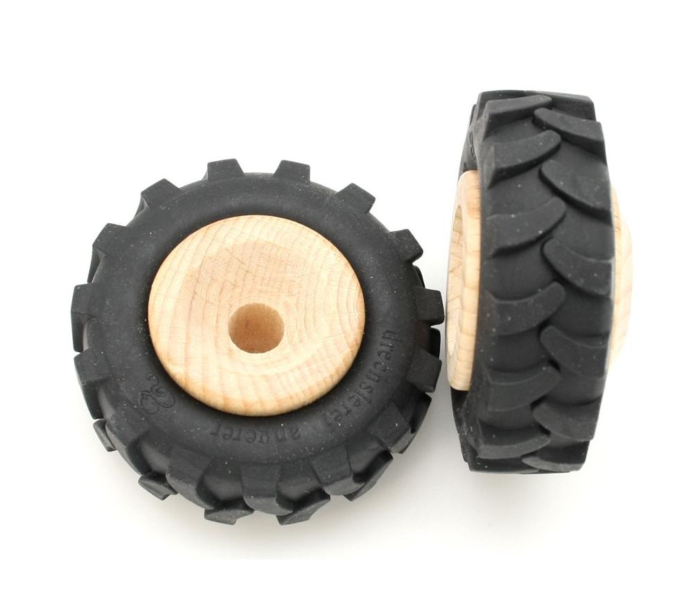 Roue tracteur de 6 cm avec pneu caoutchouc