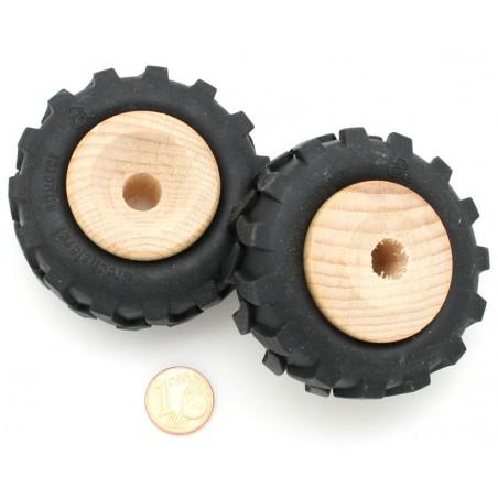 Roue tracteur de 4.3 cm avec pneu caoutchouc