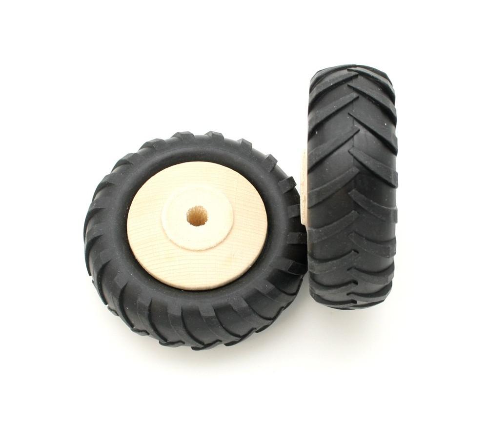 Roue tracteur de 8 cm avec pneu caoutchouc