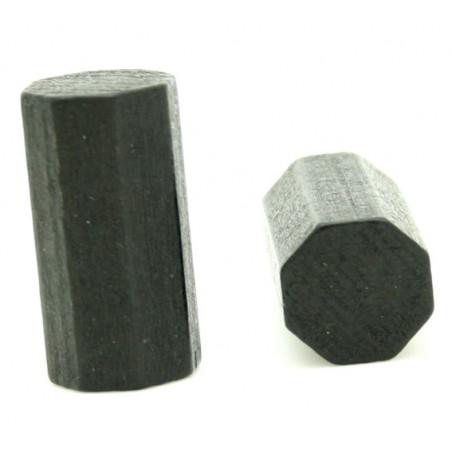 pion octogone noir 15 x 30 mm en bois pour jeu