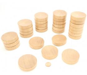Lot de 30 palets en bois de compétition pour billard hollandais
