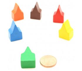 10 Pions maisons toits pointus 20x13x10 mm