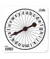 Roue lettres alphabet avec flèche tournante