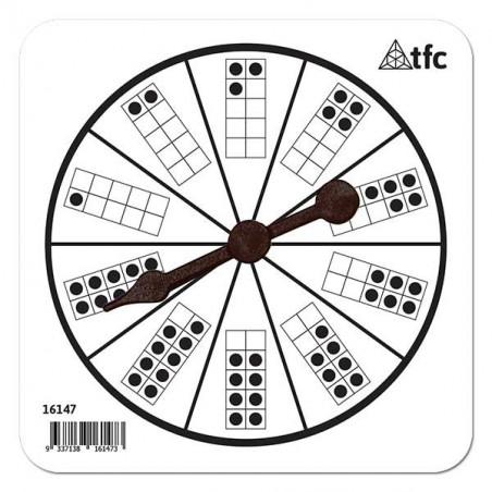 Roue points 1 à 10 avec flèche tournante