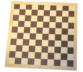 Echiquier / damier en bois sérigraphie marron plateau 40 cm cases de 45 mm