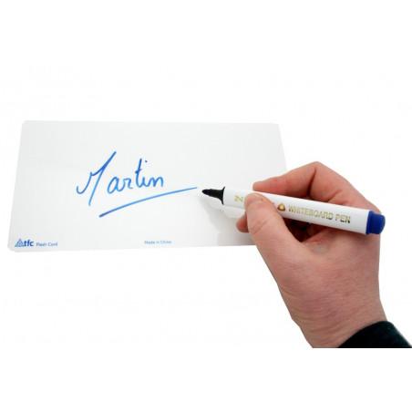 Mini ardoise effaçable blanche 20 x 10 cm - Flash card