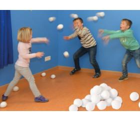 20 boules de neige - balles douces 7.5 cm