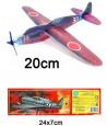 Avion planeur 20 cm en polystyrène