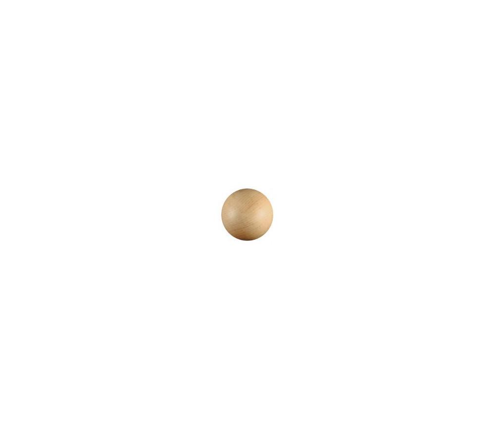 Boule ronde bois 45 mm diamètre hêtre bille
