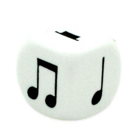 Dé Musique 16 mm notes musicales