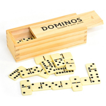 Jeu de dominos coffret - domino 4.7 x 2.2 cm