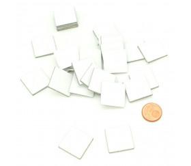 Tuile carré 20 mm jeton épais blanc 2 cm vierge à personnaliser