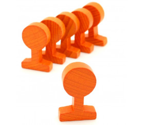 Panneau circulation rond orange