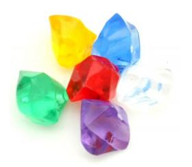 6 Mini gems multicolores pépites