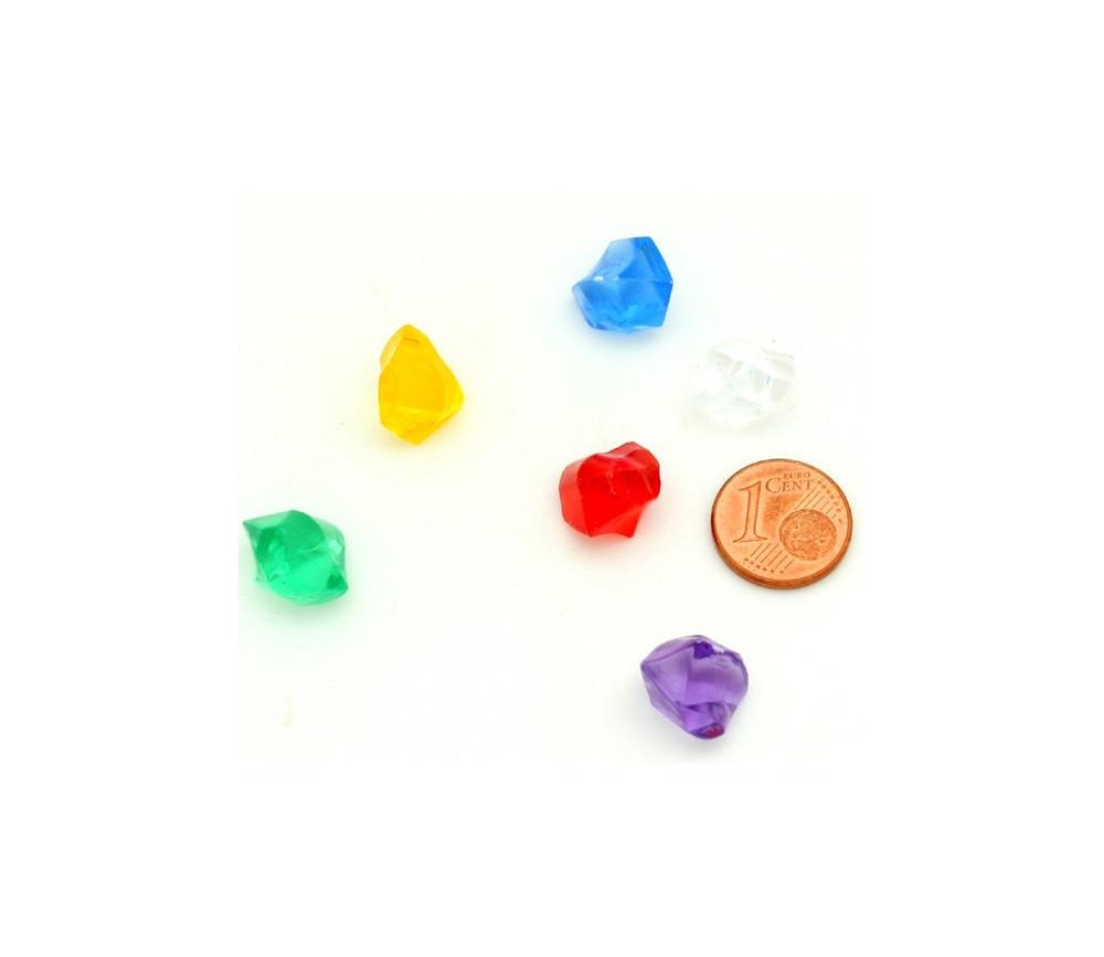 cristal lot de 15 orange accessoire de jeu crystal gemmes Pion ressource