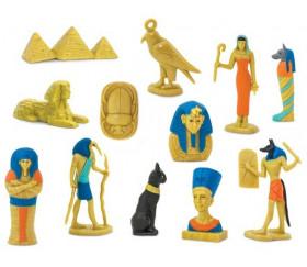 Epoque égyptienne : set 12 figurines livré avec tube de rangement