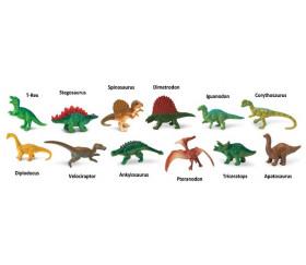 Dinosaure : set 12 figurines livré avec tube de rangement