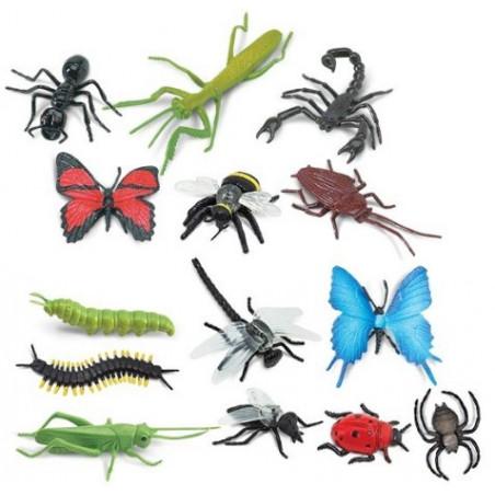 Insectes : 14 figurines dans un tube