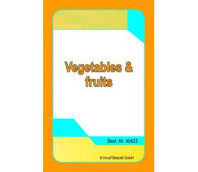 36 cartes fruits et légumes anglais - chapeau magique