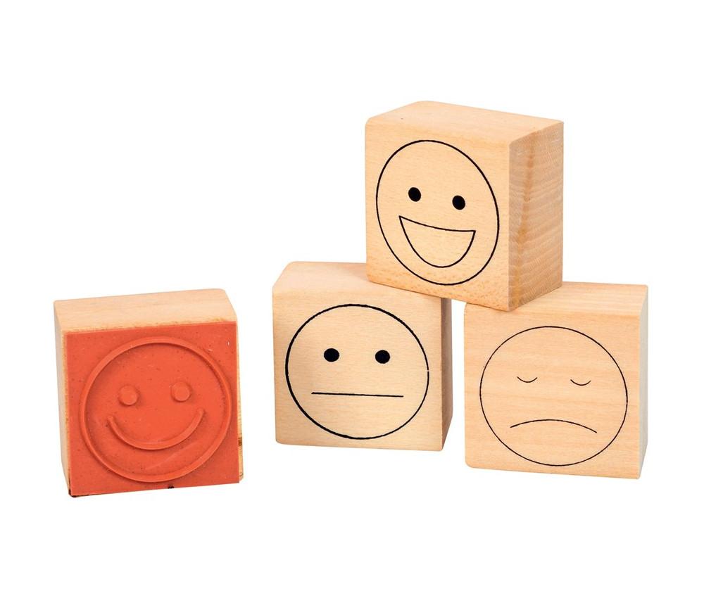 4 tampons émotions sourire évaluation 3 cm