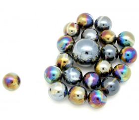 20 Billes effet métal Scarabée 16 mm + 1 calot
