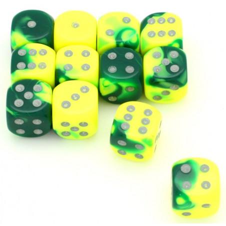 Dé effet jaune vert 16 mm gemini