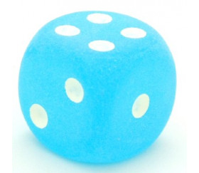 Dé 16 mm givré bleu caraïbe