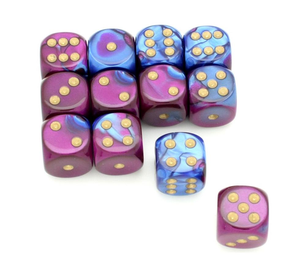 Dé effet violet bleu 16 mm gemini