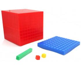 Set complet Base 10 - 121 pièces encastrables centaines, dizaines et unités