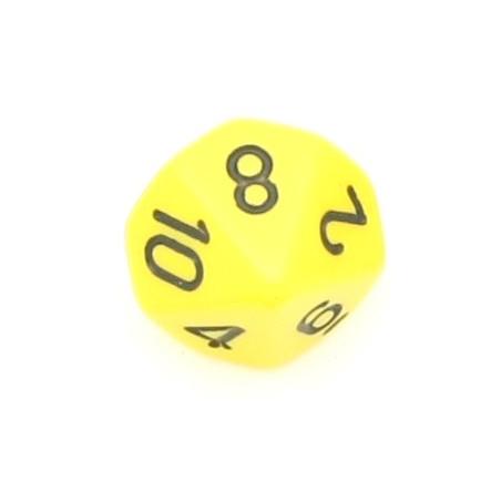 Dé à 10 faces opaques jeux de rôle d10