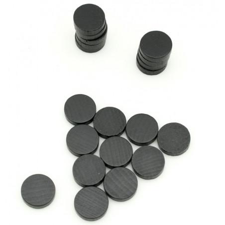 Pions jetons bois 15 x 4 mm lot 20 pour jeux