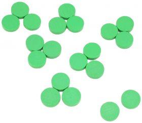 Pions jetons bois vert 15 x 4 mm lot 20 pour jeux