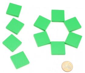 Carré plat 20x20x4 mm en bois pour jeux 2 cm de côté