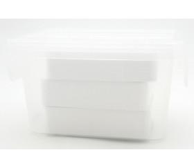 Boite 80 x 110 x 60 mm SMALL plastique transparent vide