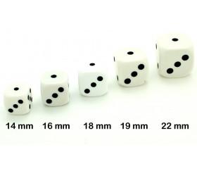 Dé à jouer blanc classiques 22 mm de 1 à 6 pour jeu de société