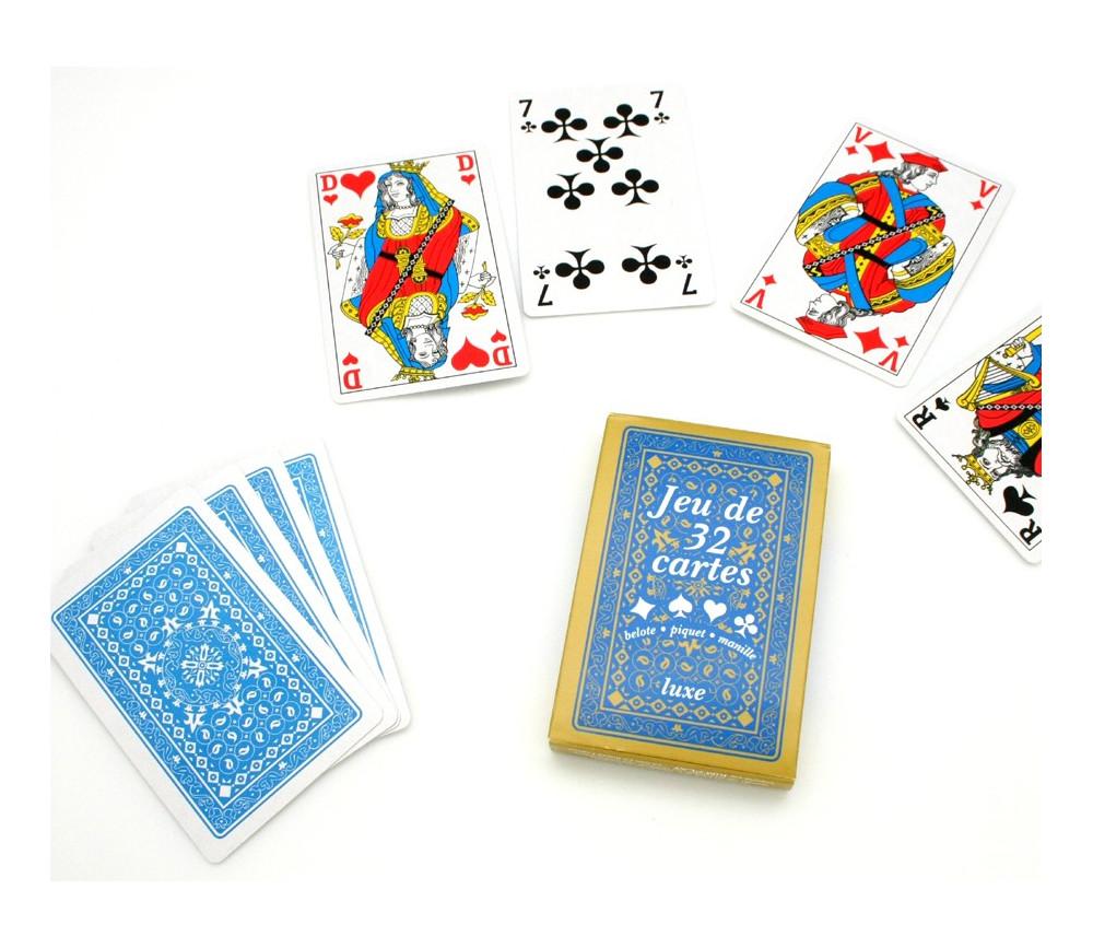 Jeu 32 cartes Belote francaise classique