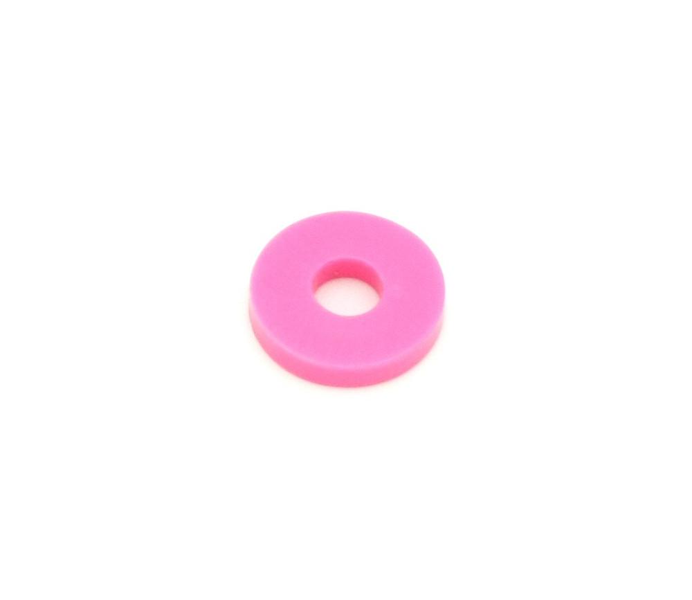 Rondelle rose 17 mm jeton troué pour jeux