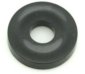 Rondelle noire 17 mm jeton troué pour jeux